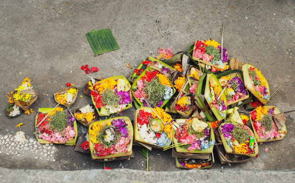 Offerings to the Spirits, Bali, Indonesia