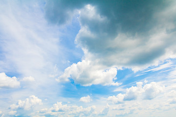 blue sky vivid with dark cloud art of nature beautiful and copy space for add text