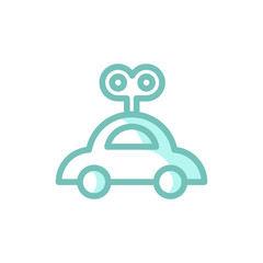 clockwork car icon vector