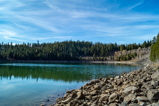 Crater Lake in the Lassen National Forest near Susanville, California