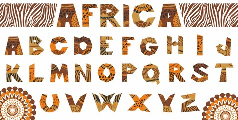 Vector illustration of the African alphabet