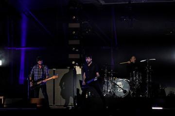 Basque group Berri Txarrak performs ahead of the MTV European Music Awards at San Mames stadium in Bilbao