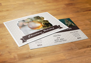 Photography Mini Session Flyer Layout with Dotted Pattern
