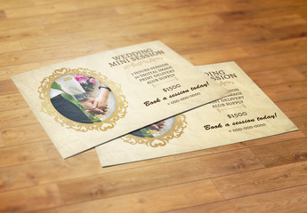 Wedding Photography Mini Session Flyer Layout