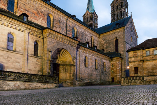 street in old town of Bamberg, Germany