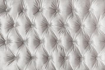 Fototapeta White capitone tufted fabric upholstery texture obraz