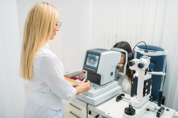 Computer diagnostics of vision, eyesight test