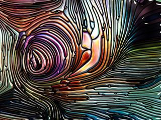 Complex Iridescent Color Glass