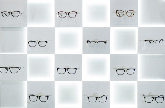 glasses in the shop