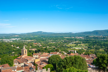 Townscape of Grimaud Village