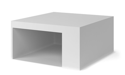 Blank tradeshow booth or shop area