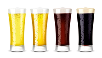 Beer glasses mockups. Version