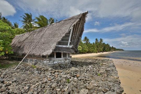 Traditional building Yap, Micronesia