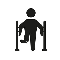 Broken leg icon. Trendy Broken leg logo concept on white background from Health and Medical collection