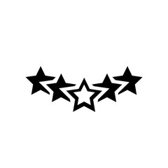 Five stars icon. Trendy Five stars logo concept on white background from Hotel and Restaurant collection