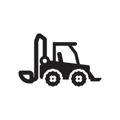 skid loader icon. Trendy skid loader logo concept on white background from Industry collection