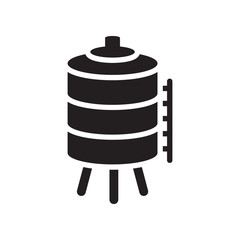 Water tank icon. Trendy Water tank logo concept on white background from Industry collection