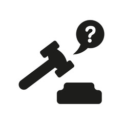 ask a lawyer icon. Trendy ask a lawyer logo concept on white background from law and justice collection