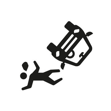 accident and injuries icon. Trendy accident and injuries logo concept on white background from law and justice collection