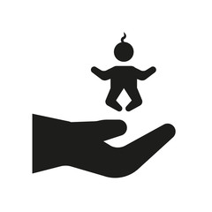 child custody icon. Trendy child custody logo concept on white background from law and justice collection