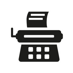 Stenographer icon. Trendy Stenographer logo concept on white background from law and justice collection
