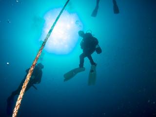 submariner under the ocean