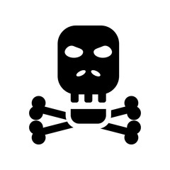 Skull and bones icon. Trendy Skull and bones logo concept on white background from Nautical collection