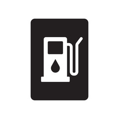 Gasoline sign icon. Trendy Gasoline sign logo concept on white background from Traffic Signs collection
