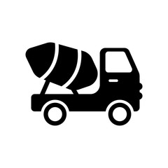 Cement truck icon. Trendy Cement truck logo concept on white background from Transportation collection