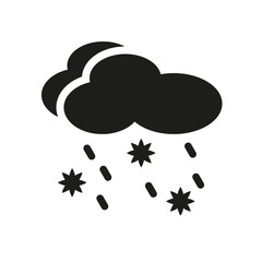Sleet icon. Trendy Sleet logo concept on white background from Weather collection