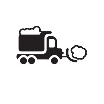 Snowplow icon. Trendy Snowplow logo concept on white background from Winter collection
