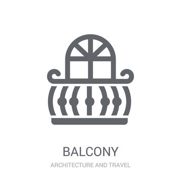 Balcony icon. Trendy Balcony logo concept on white background from Architecture and Travel collection