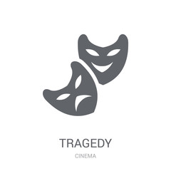 tragedy icon. Trendy tragedy logo concept on white background from Cinema collection
