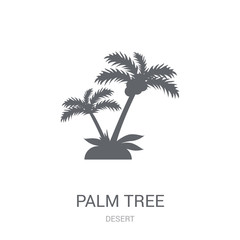 Palm tree icon. Trendy Palm tree logo concept on white background from Desert collection