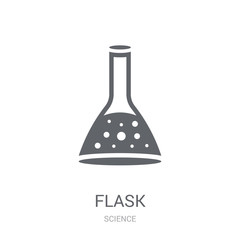 Flask icon. Trendy Flask logo concept on white background from Science collection