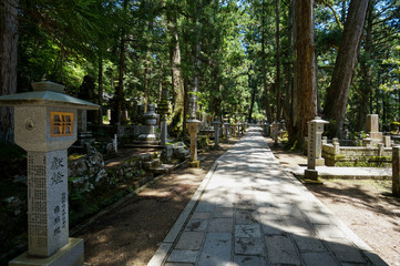 Okunoin cemetery in Kōya-san, Japan