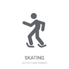 Skating icon. Trendy Skating logo concept on white background from Activity and Hobbies collection