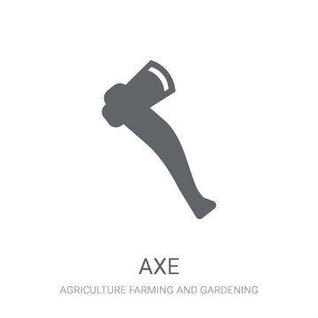 Axe icon. Trendy Axe logo concept on white background from Agriculture Farming and Gardening collection