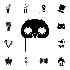 Owl mask icon. Detailed set of carnival masks icons. Premium quality graphic design icon. One of the collection icons for websites, web design, mobile app