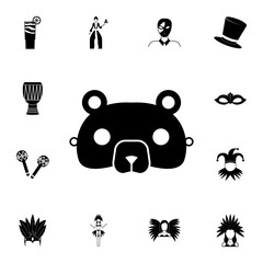 Bear Mask icon. Detailed set of carnival masks icons. Premium quality graphic design icon. One of the collection icons for websites, web design, mobile app