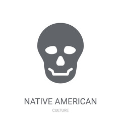 Native American Skull icon. Trendy Native American Skull logo concept on white background from Culture collection