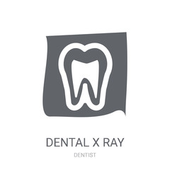 Dental X ray icon. Trendy Dental X ray logo concept on white background from Dentist collection