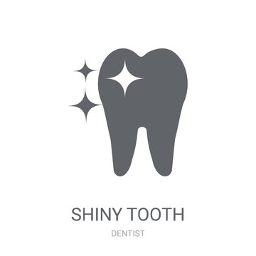 Shiny Tooth icon. Trendy Shiny Tooth logo concept on white background from Dentist collection