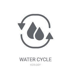 Water cycle icon. Trendy Water cycle logo concept on white background from Ecology collection