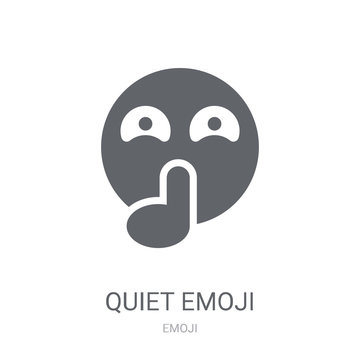 Quiet emoji icon. Trendy Quiet emoji logo concept on white background from Emoji collection