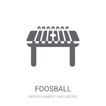 Foosball icon. Trendy Foosball logo concept on white background from Entertainment and Arcade collection