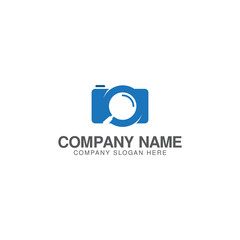 Search camera, find camera logo design vector template