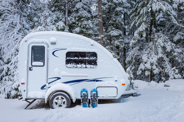 Photo sur Plexiglas Camping Winter camping