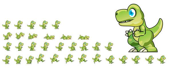 Animated Dino Game Sprite