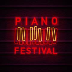 Piano symbol neon.
